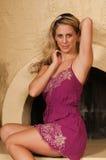 Alineada púrpura Fotografía de archivo libre de regalías