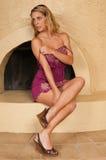 Alineada púrpura Imagen de archivo libre de regalías
