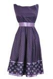 Alineada púrpura de la mujer en el redondo blanco Fotografía de archivo