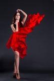 Alineada roja Fotos de archivo