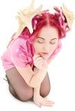 Alineada rosada Fotografía de archivo