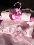 Alineada rosada de los cabritos Imagen de archivo libre de regalías