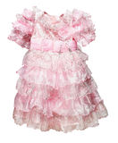 Alineada rosada tamaño pequeño en blanco Imagen de archivo libre de regalías