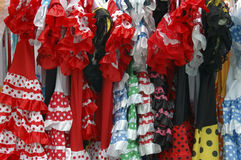 Alineadas españolas del folklore foto de archivo