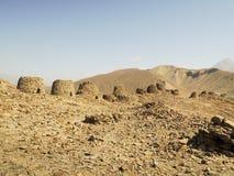 Alineado dramáticamente encima de un canto rocoso Foto de archivo libre de regalías