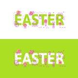Alinee el concepto del ejemplo de los iconos de palabras pascua y de elementos stock de ilustración