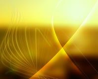 Alinee que brilla el fondo amarillo Imagenes de archivo