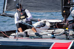Alinghi compete in the Extreme Royalty Free Stock Images