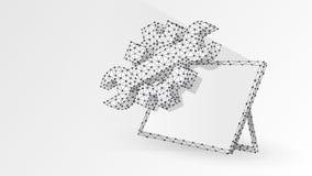 Alinha a chave ajustável na tabuleta gráfica Ind?stria, tecnologia do neg?cio, conceito dos ajustes Sum?rio, digital, wireframe,  ilustração do vetor