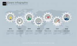 Alinha o molde infographic para a apresentação do negócio, plano estratégico para definir valores da empresa ilustração royalty free