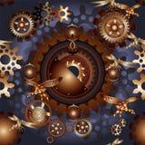 Alinha o teste padrão sem emenda do steampunk com insetos mecânicos ilustração royalty free