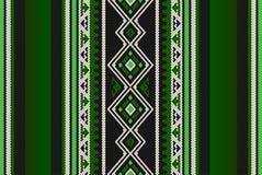 Alinhador longitudinal de tecelagem da mão árabe tradicional verde detalhada de Sadu dos povos ilustração royalty free