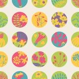 Alinhador longitudinal sem emenda com as flores do verão (mola) ilustração stock