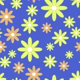 Alinhador longitudinal sem emenda do vetor com flores planas Foto de Stock Royalty Free