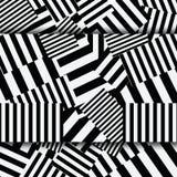 Alinhador longitudinal sem emenda geométrico textured listrado abstrato Imagens de Stock