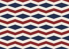 Alinhador longitudinal sem emenda velho do vermelho da glória do diamante de Chevron, o branco e o azul Foto de Stock Royalty Free
