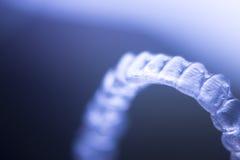 Alinhadores invisíveis dos suportes dos dentes Imagem de Stock Royalty Free
