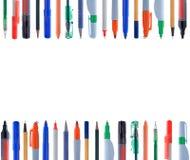Alinhamento de instrumentos da escrita Imagens de Stock