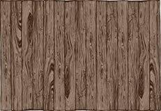 Alinhamento de madeira da prancha Imagens de Stock Royalty Free