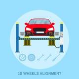 Alinhamento de rodas ilustração stock