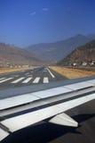 Alinhamento na pista de decolagem Imagens de Stock