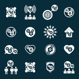 Alinhe ícones incomuns do tema do desenvolvimento e do progresso do poder do sistema Fotografia de Stock Royalty Free
