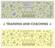 Alinhe a bandeira da Web do conceito de projeto para treinar e treinar ilustração royalty free