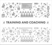 Alinhe a bandeira da Web do conceito de projeto para treinar e treinar ilustração do vetor