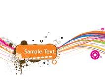 Alinhe a ilustração do vetor do texto da amostra isolada em w Fotos de Stock Royalty Free