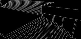 Alinhe o esboço de escadas da rua no fundo preto Fotos de Stock Royalty Free