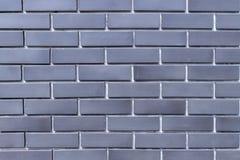 Alinhe a superfície nova da parede de tijolo da cor cinzenta do teste padrão fotos de stock
