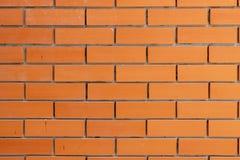 Alinhe a superfície pura da parede de tijolo da cor vermelha do teste padrão imagem de stock royalty free