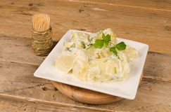 Alioli potatoes Stock Image