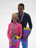 Aliona Savchenko and Robin Szolkowy of Germany royalty free stock photos