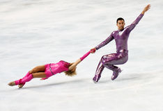 Aliona SAVCHENKO / Robin SZOLKOWY short program Royalty Free Stock Photo