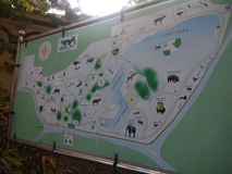 ALIPORE动物园地图 免版税图库摄影