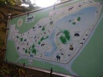 ALIPORE zoo mapa fotografia royalty free