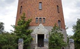 Alisa för grå färger för ` för vattentorn `, Riga Arkivbilder
