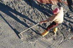 Alisar el cemento Imágenes de archivo libres de regalías