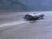 Aliscafo sul fiume Yangtze, Cina Fotografie Stock Libere da Diritti