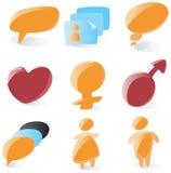 Alise ícones do bate-papo ilustração royalty free