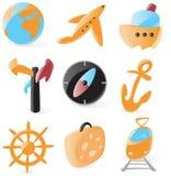 Alise ícones do curso ilustração stock