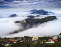 Alishan,Chiayi County,Taiwan:Sunset clouds Royalty Free Stock Photography