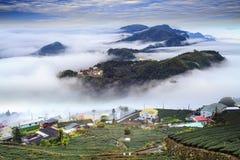 Alishan,Chiayi County,Taiwan:Sunset clouds Stock Image