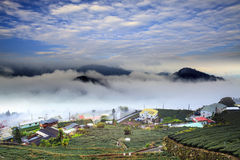 Alishan,Chiayi County,Taiwan:Sunset clouds Royalty Free Stock Images