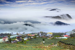 Alishan,Chiayi County,Taiwan:Sunset clouds Royalty Free Stock Image