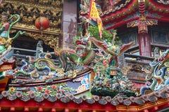 Alishan national park ; Taiwan-October 14,2018:Close up statue at The Alishan Shouzhen temple is beautiful temple in Alishan