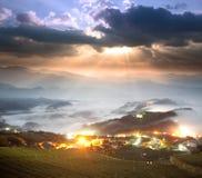 Alishan stone Zhuo Sunset, Taiwan. Stock Image