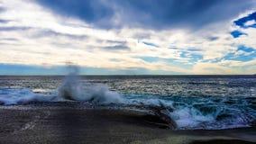 Aliso海滩,加州冬时 免版税库存照片