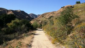Aliso Canyon Trail. Trail and hills in Aliso Canyon, San Fernando Valley, CA Stock Photography